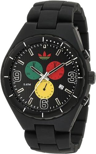 Remolque diamante Color de malva  Amazon.com: adidas Originals relojes Cambridge Mid Tamaño, Negro con verde,  amarillo y rojo: Watches