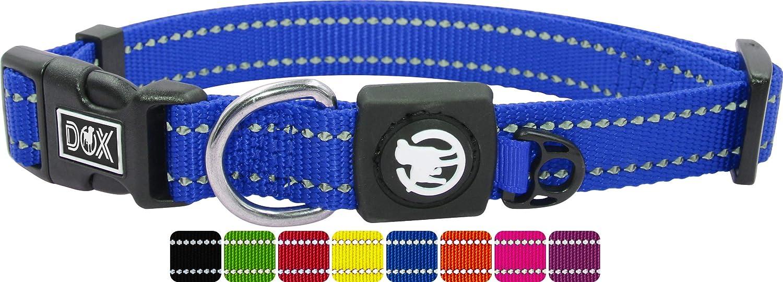 DDOXX Hundehalsband Nylon, reflektierend, verstellbar