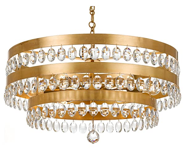 Perla 6 Light Antique Gold Chandelier - Perla 6 Light Antique Gold Chandelier - - Amazon.com