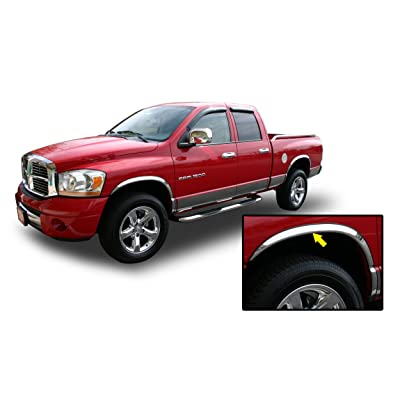 02-08 DODGE RAM CHROME FENDER TRIM Wheel Well Moulding 2WD 4WD 1500 2500 2002 2003 2004 2005 2006 2007 2008