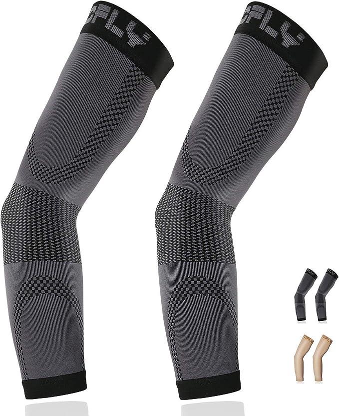 grey compression sleeves