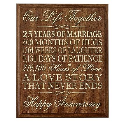 amazon com lifesong milestones 25th wedding anniversary wall