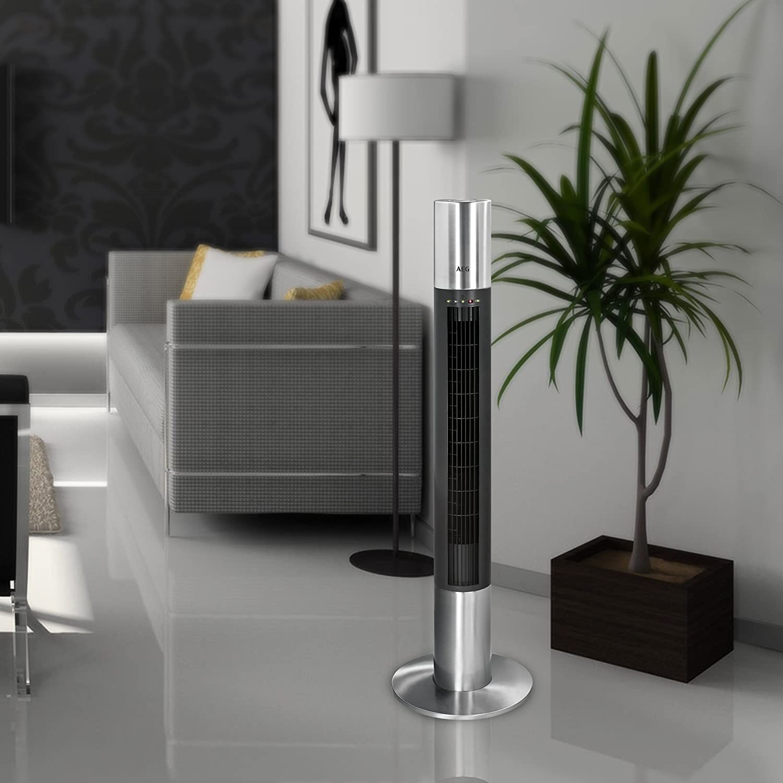 Der Säulen-Ventilator von AEG im Gebrauch