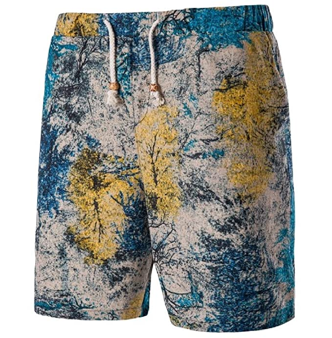 Sheng XiMen Letter Printed Splice High Stretch For Surfing Beach Shorts