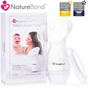 NatureBond Silicone Breastfeeding Manual Breast Pump Milk Saver Suction | Basic Pack Air-Tight Vacuum Sealed in Hardcover Gift Box. BPA Free