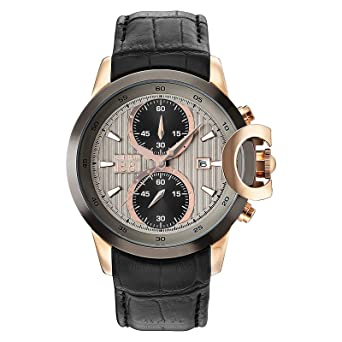 86931c51ac Cerutti 1881 Men's Rose Gold Dail Leather Band Watch - C CRWA133SRU05BK