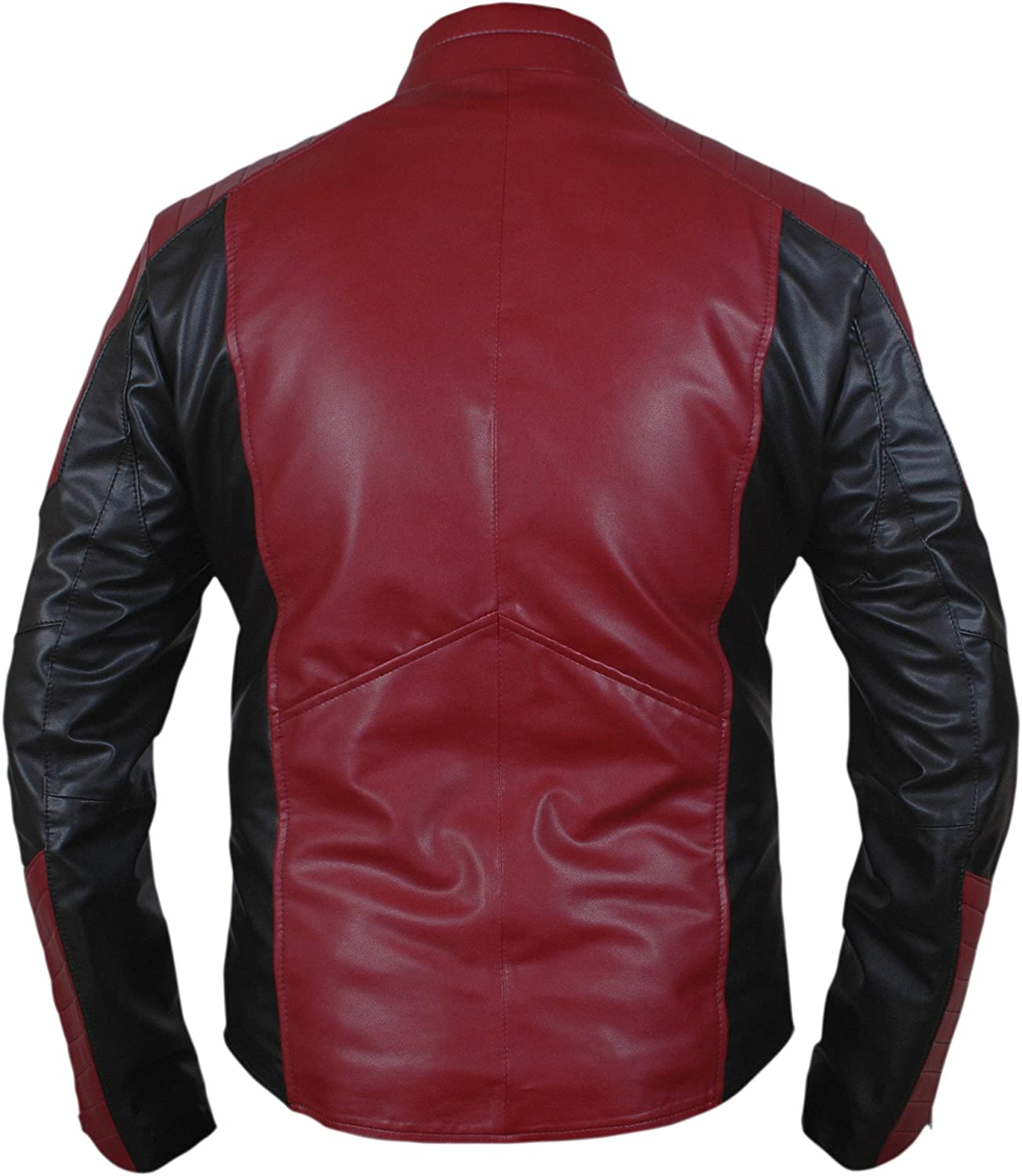 Flesh /& Hide F/&H Mens Superhero Amazing Spider Maroon /& Black Genuine Leather Jacket