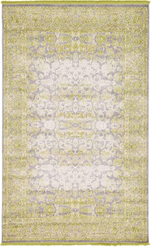 Unique Loom New Classical Collection Traditional Distressed Vintage Classic Light Green Area Rug 5 0 x 8 0