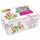Scrapcooking 3986 Boîte Métal 36 Découpoirs Plastiques Abc,012 Plastique Multicolore 19.5x13x8 cm 36 unité(s)
