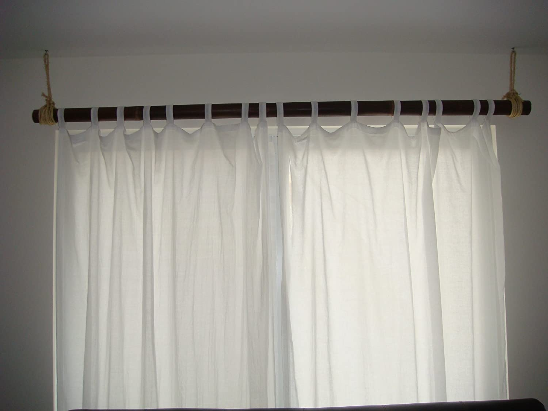 Bamboo Curtain and Bamboo Curtain Rod Set: Amazon.co.uk: Kitchen & Home