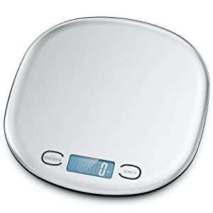 Digital Food Scale - Kitchen Scale Supports up to 33lbs, Accurate Within 0.05 Ounces/1 Grams, Stainless Steel Design with Zero Out Feature, for Cooking and Baking
