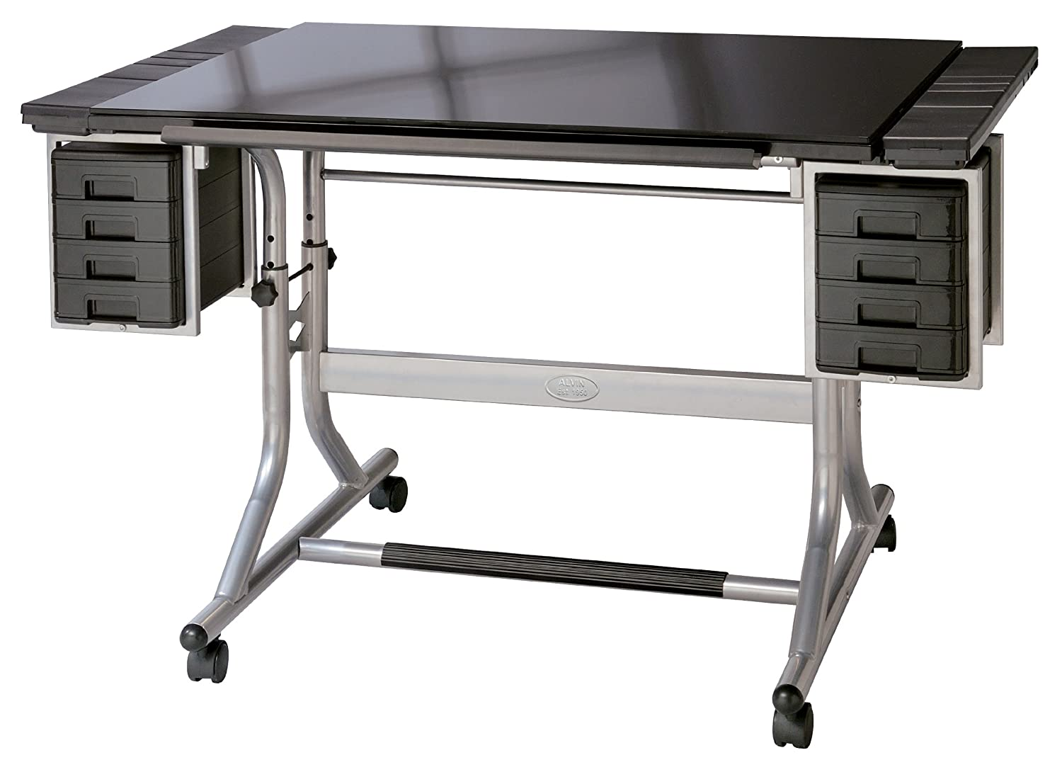 Amazon.com: Alvin CM48GL CraftMaster II Deluxe Art U0026 Drawing Glass Top Table:  Home U0026 Kitchen