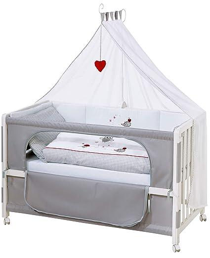 Roombed de roba, cuna de colecho de 60x120 cm con textiles Adam & the