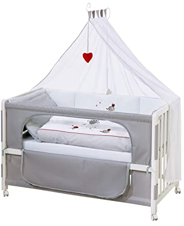 Roba Roombed Babybett 60x120 Cm Adam Eule Beistellbett Zum