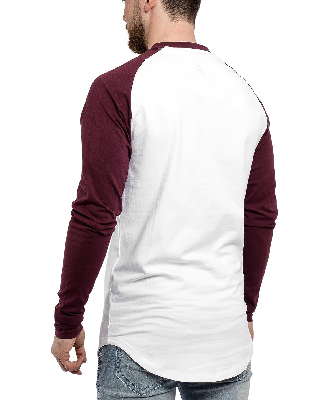Schwarzskies Baseball Longsleeve T-Shirt T-Shirt T-Shirt   Langes OverGröße Fashion Basic Langarm Raglan Herren Longshirt Long Tee Melliert - Rot Grau Blau Weiß Schwarz S M L XL B01N9CSXME T-Shirts Schön und charmant 408ca6