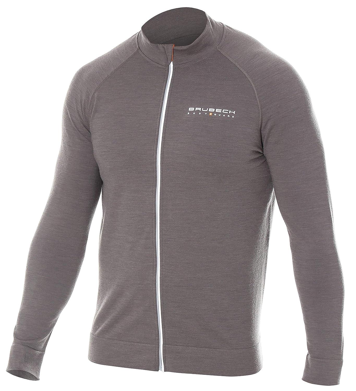 Brubeck Merino Herren Funktionsjacke   Langarm   Reißverschluss   Sport   Outdoor   Wandern   Winter   Second-Layer   38% Merino-Wolle   LS13330
