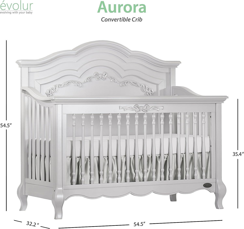 Ivory Lace Evolur Aurora 5-in-1 Convertible Crib