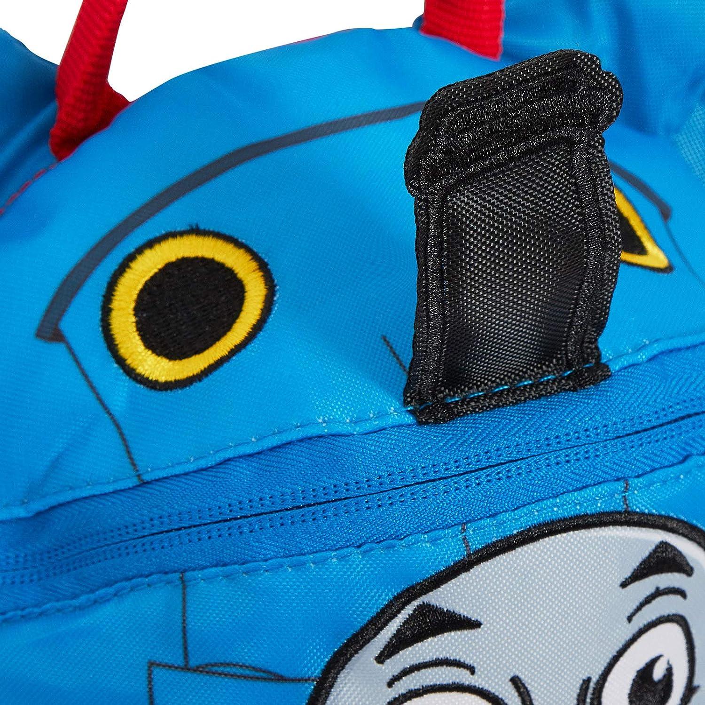 Blau die kleine Lokomotive mit abnehmbarem Sicherheitsgurt f/ür Kindergartentasche - MNCK13033 Motiv: Thomas Jungen-Rucksack blau