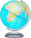 Illuminated World Globe for Kids with Stand – Built-in LED Light Illuminates for Night View – Colorful, Easy-Read Labels…