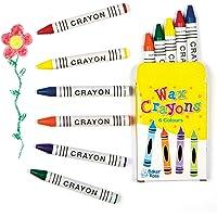 Baker Ross Mini kleurpotloden (Pak van 8 dozen) voor kinderen te versieren, kunst en ambachten