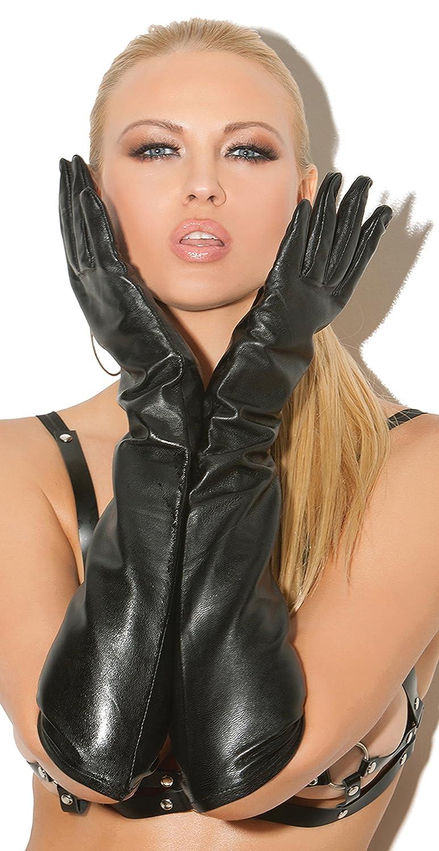 9489b5bd6c709 Amazon.com  Women s Long Leather Gloves  Clothing