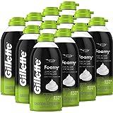 Gillette Foamy Shave Cream for Sensitive Skin, 11 oz. Bottle (Pack of 12)