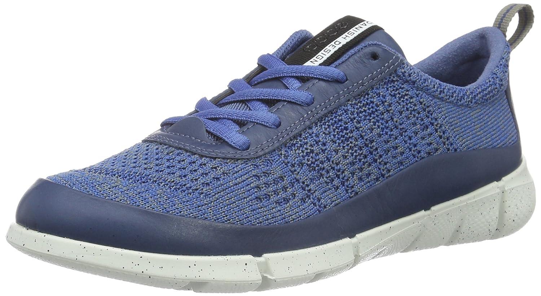 ECCO Women's Intrinsic Knit Fashion Sneaker B01A1JODWK 35 EU/4-4.5 M US|Denim Blue/Moon