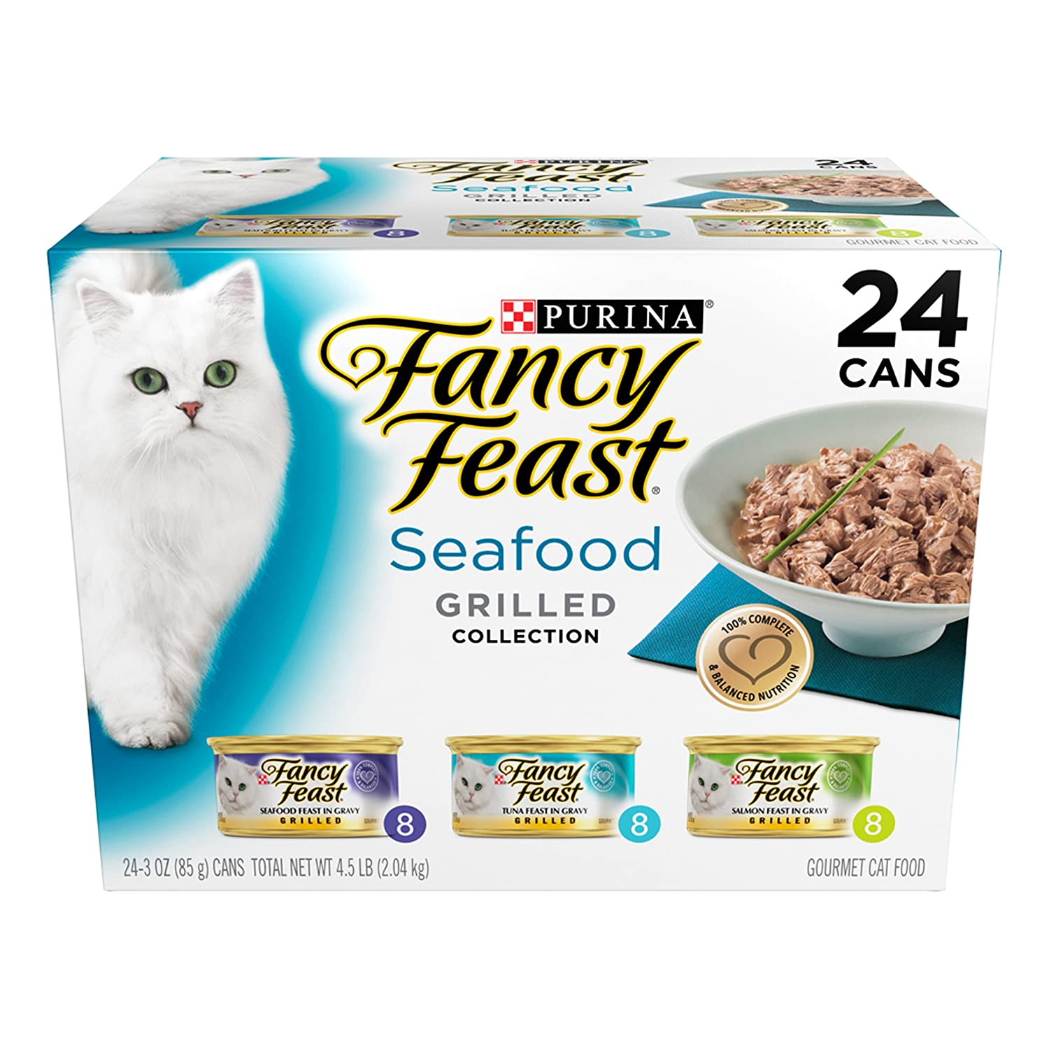 Amazon.com : Purina Fancy Feast Grilled Seafood Collection Wet Cat ...