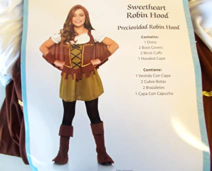 Sweetheart Robin Hood Child Costume 10-12 NIP