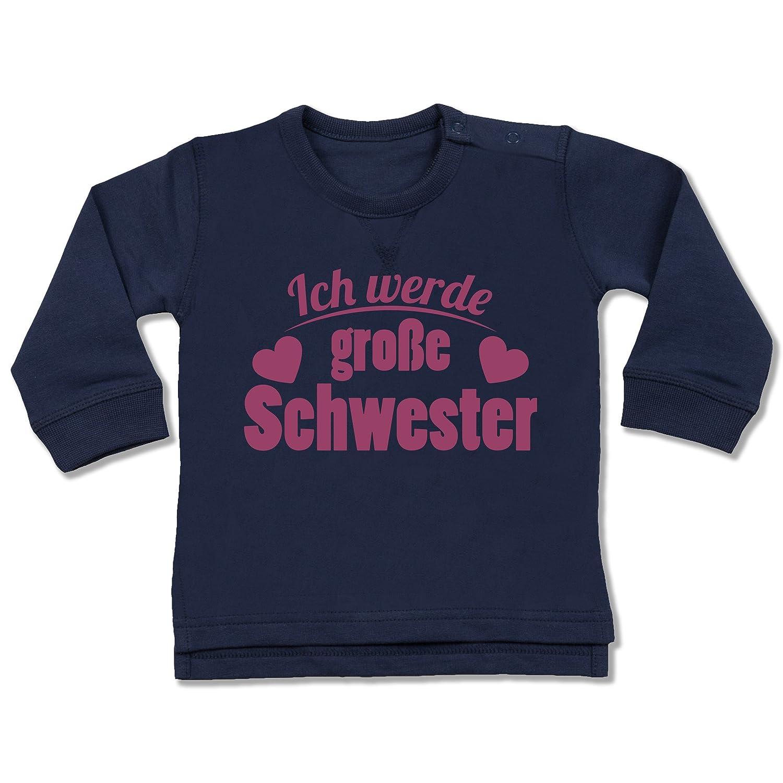 Shirtracer Geschwisterliebe Baby - Ich werde große Schwester - Baby Pullover BZ31