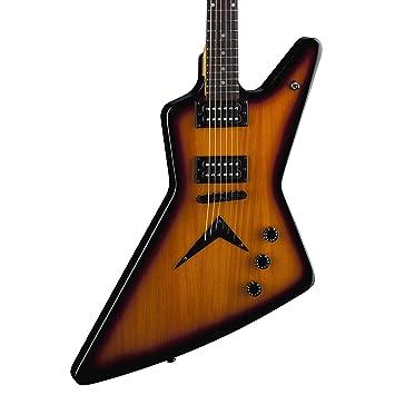 DEAN ZX TBZ - Guitarra eléctrica, color amarillo: Amazon.es: Instrumentos musicales