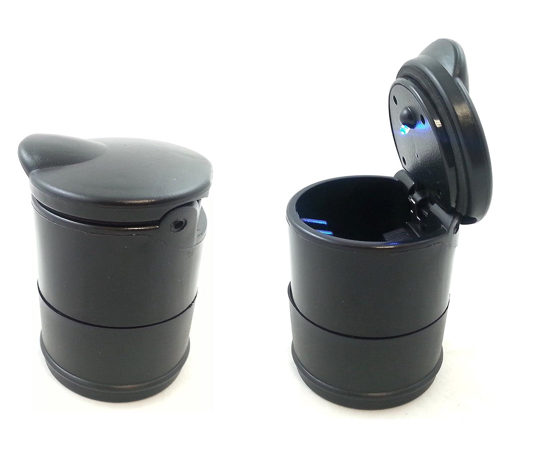 flexzon KP-830B Aschenbecher, feuerfest, Eimer-Design fü r Auto, zuhause und Bü ro, LED-Licht
