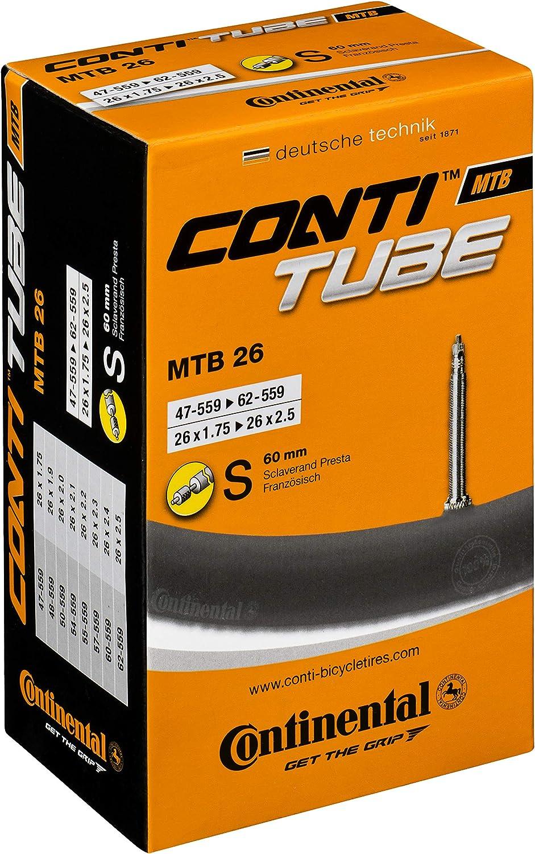 Continental MTB 26 - Cámara de aire para bicicletas negro s60 ...