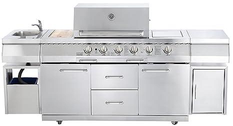 Allgrill, grill a gas per cucina da esterno, modello ...