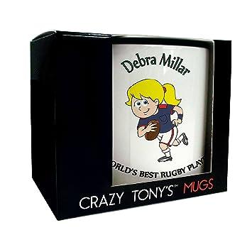 Caja de regalo barata personaliseitonline Jugador de Rugby taza para las mujeres Rugby por Crazy Tony: Amazon.es: Hogar