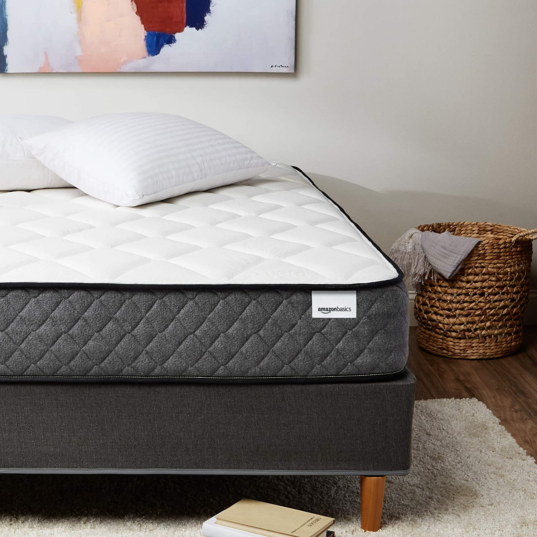 AmazonBasics Premium Hybrid Mattress - Medium Feel - Memory Foam - Motion Isolation Springs - 12-Inch, Twin