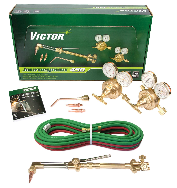 Victor Journeyman 450 Torch Kit Set CA2460 315FC SR450D Hose, 0384-0807 20' x 3/16'' ''R''