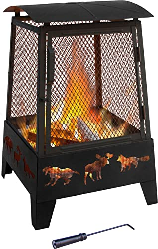 Landmann 25319 Haywood Wildlife Sturdy Steel Fire Pit
