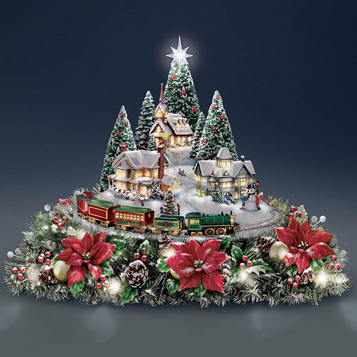 Thomas Kinkade Christmas Village – Merry Christmas And Happy New ...