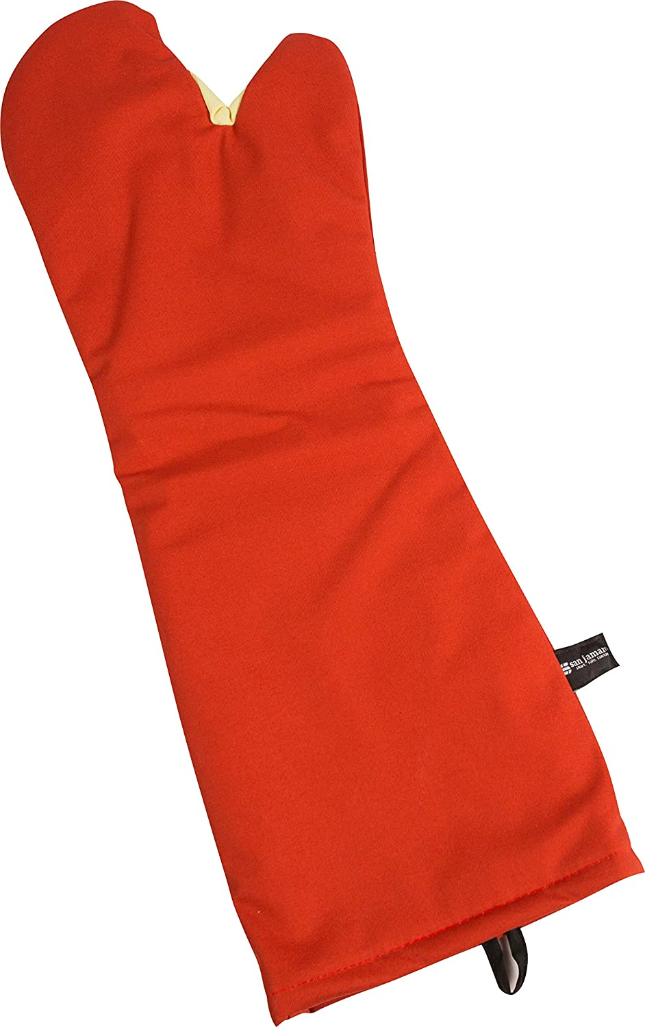 Red 13 Length San Jamar CTC13 Cool Touch Conventional Oven Mitt Heat Protection up to 500/° F 13 Length