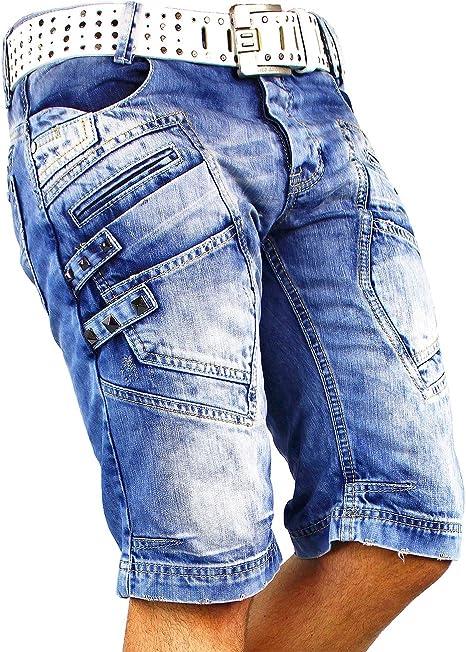 Redbridge R31151-bans - Pantalones cortos para hombre (con remaches)