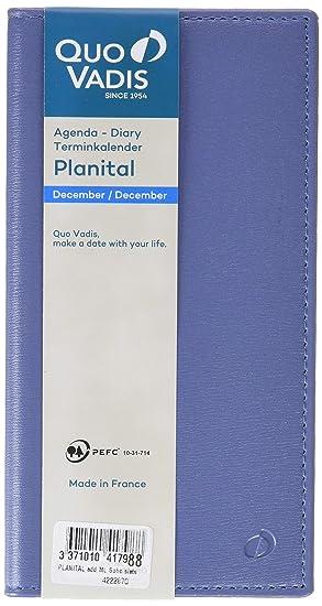 Quo Vadis Planital - Agenda 2019, diseño Soho, color azul
