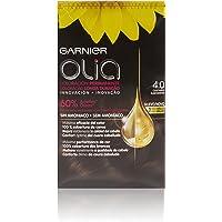 Garnier Olia - Coloración Permanente sin Amoniaco, con Aceites Florales de Origen Natural - Tono 4.0 Castaño