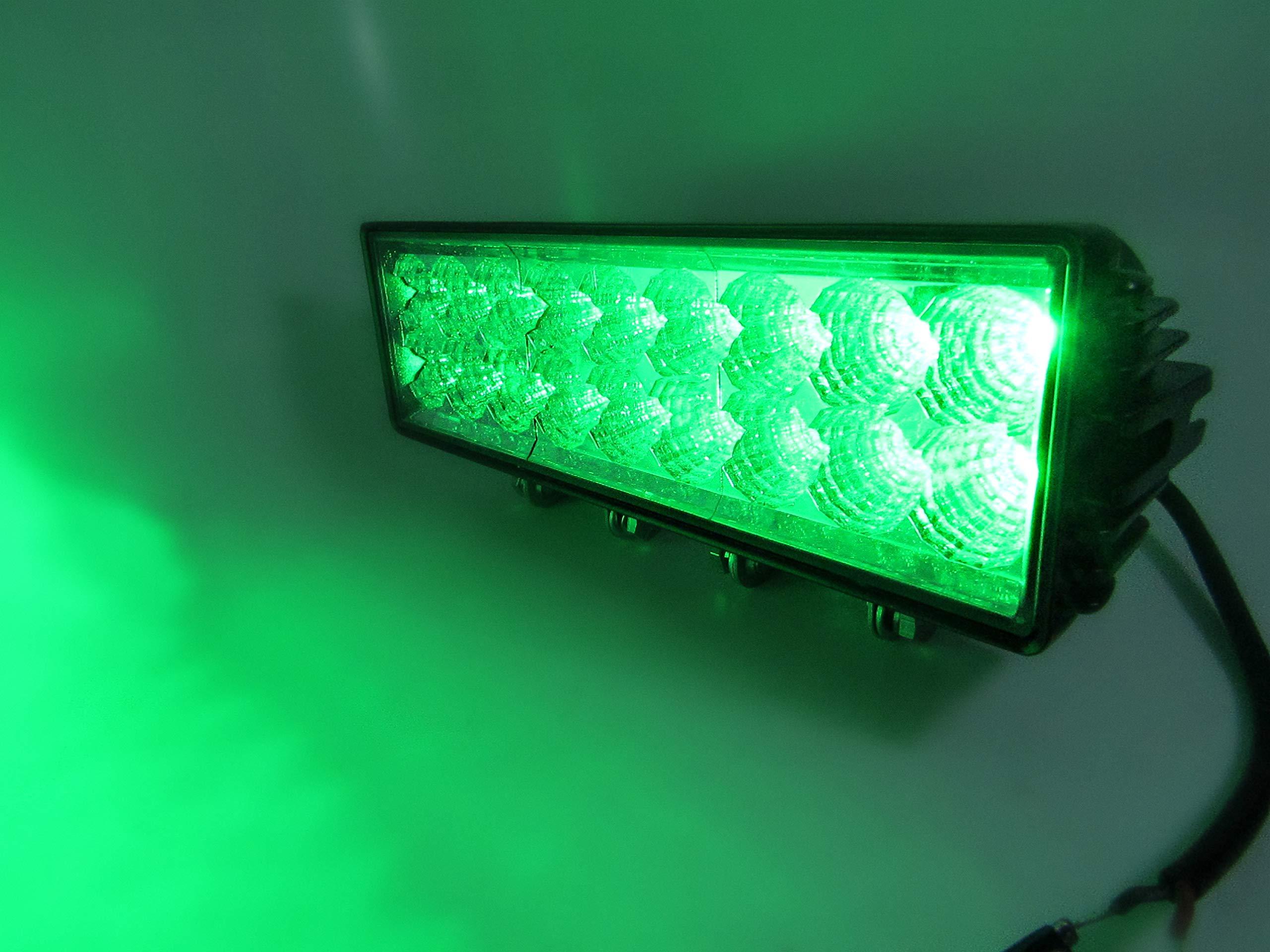Kaper II L16-0080GR 11 inch Double Stack Green Light Bar