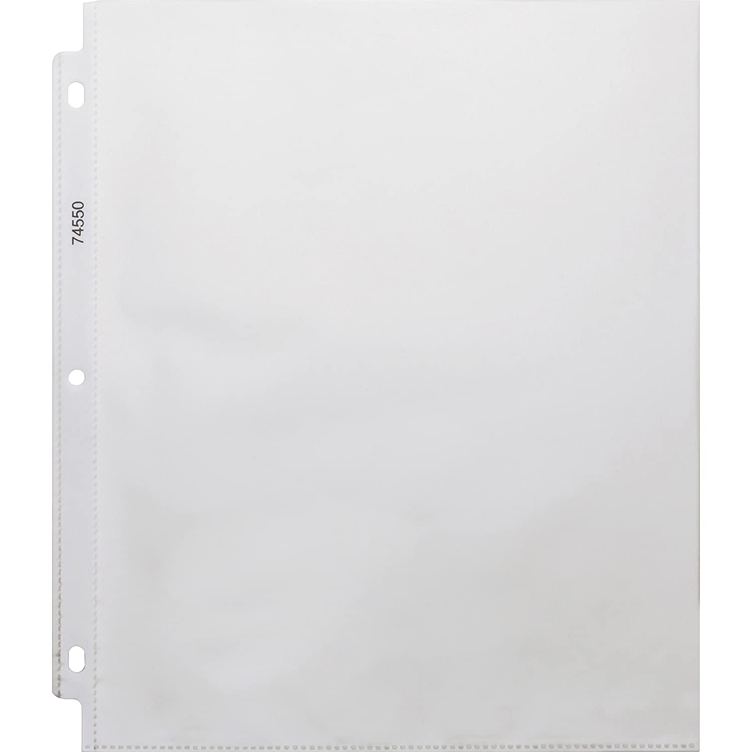 Business Source 74550 Sheet Protectors, Top Load, 3.2 mil, 11x8-1/2, 100/BX, Clear 11x8-1/2 Business Source.74550