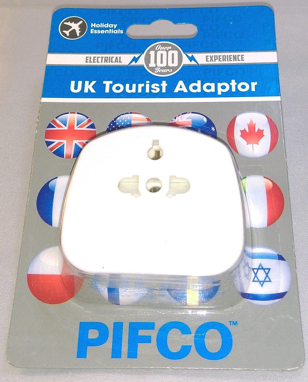 Pifco TVL1012 Adaptateur de voyage avec prises Grande-Bretagne//Angleterre Blanc