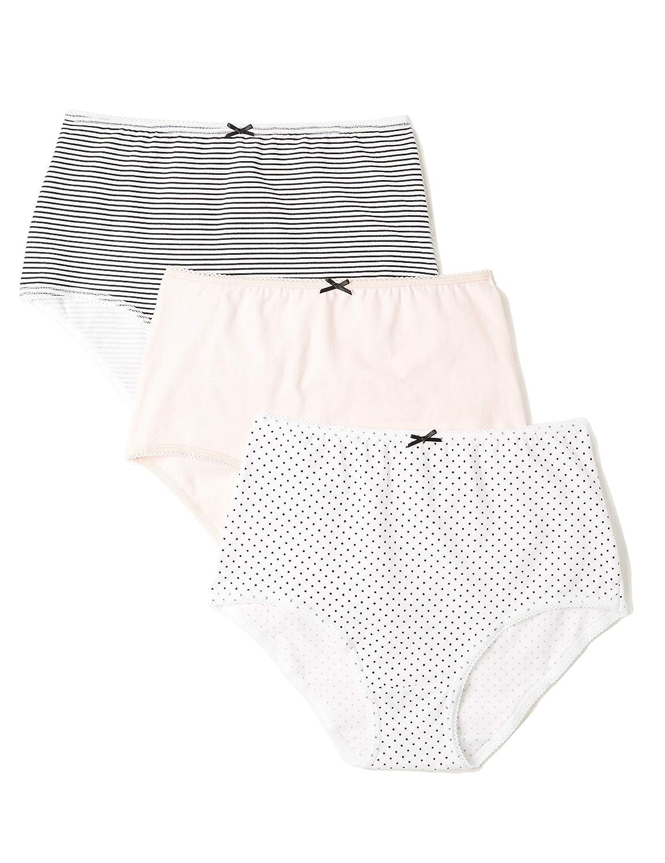 8c47da5f8b9 Amazon.com: Amazon Brand - Iris & Lilly Women's Cotton Full Coverage High  Waist Brief Underwear, Pack of 3: Clothing