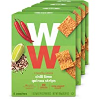 WW Chili Lime Quinoa Strips - 2 SmartPoints - 4 Boxes (20 Count Total) - Weight Watchers Reimagined