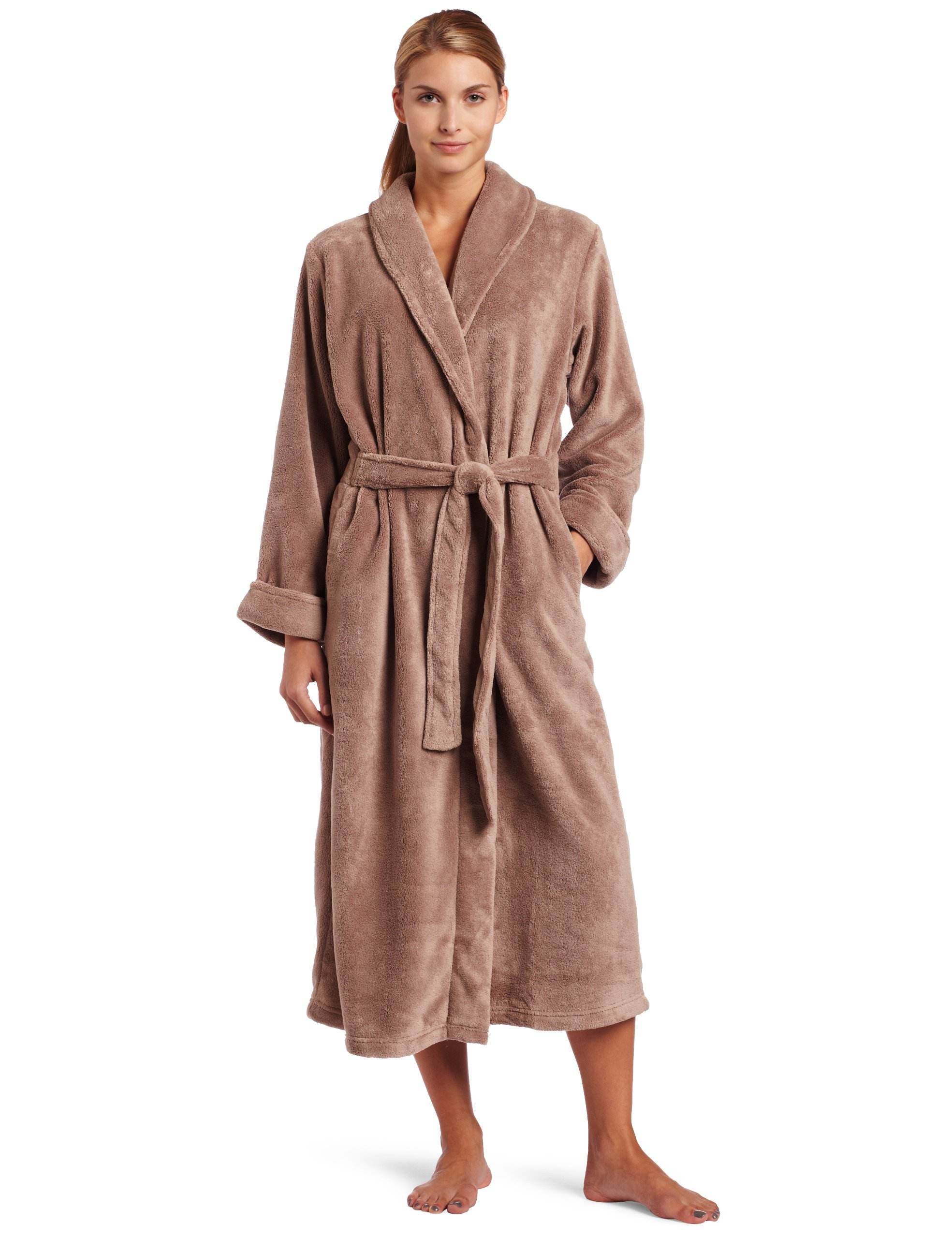 Casual Moments Women's 50 Set-In Belt Wrap, Coffee, X-Large