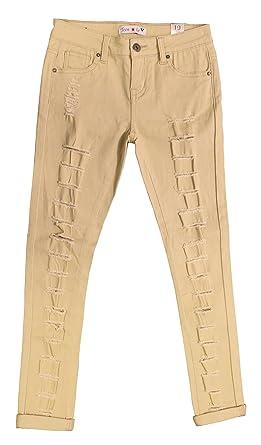 Like in jeans skinny teen doing